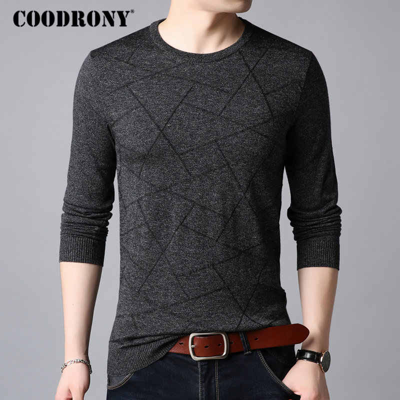 COODRONY Wool Sweater Men Casual O-Neck Pull Homme Knitted Cotton Pullover Men 2018 Autumn Winter New Clothes Mens Sweaters B009