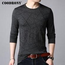 Suéter de lana COODRONY para hombre, Jersey de punto de algodón con cuello redondo informal para hombre, ropa nueva de otoño invierno 2018 B009