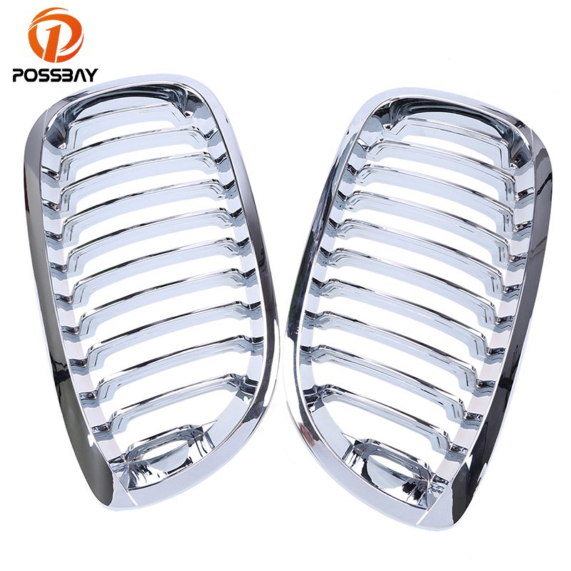 POSSBAY Car Racing Grille Cover ABS Chrome Silver Car Front Center Bumper Grilles For BMW 3-Series E46 Coupe 2003-2006 FaceliftPOSSBAY Car Racing Grille Cover ABS Chrome Silver Car Front Center Bumper Grilles For BMW 3-Series E46 Coupe 2003-2006 Facelift