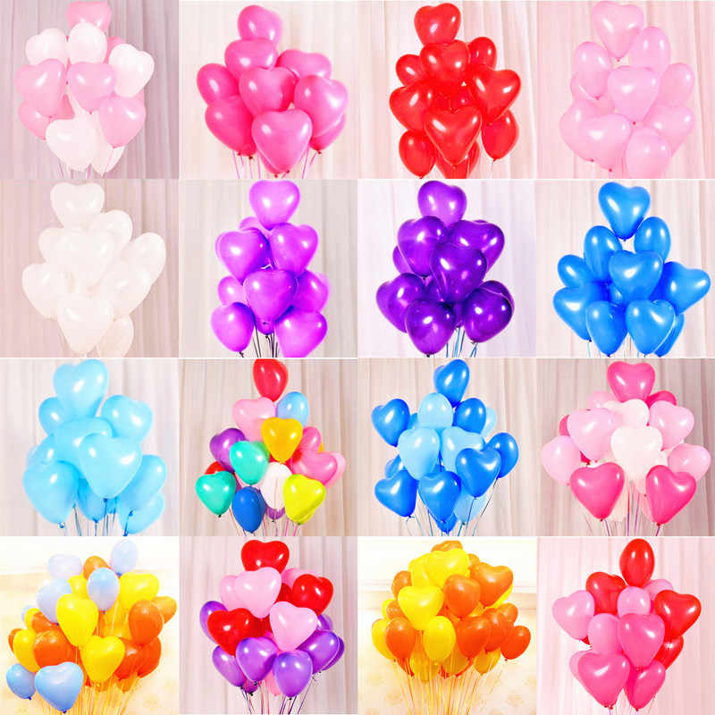 5pcs Latex Balloons 1st Birthday Decorations Home Decoration Accessories Heart Balloon 50 Party Kid