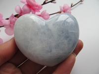 NATURAL PRETTY CELESTITE CRYSTAL HEART HEALING Decoration Resistant Healing Stone Feng Shui Decoration 127g