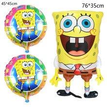 6Pcs Birthday 3D Spongebob Balloons Set Party Supplies Balloons Baby Decor Children Party Decoration Spongebob Balloons Helium
