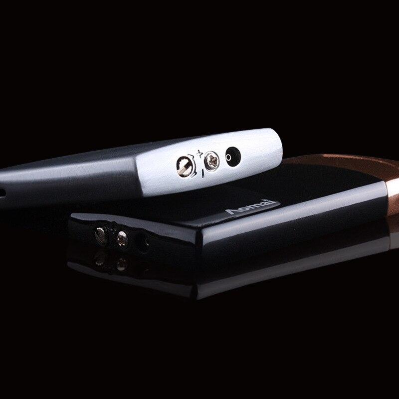 Image 4 - 2018 New Compact Jet Lighter Gas Torch Lighter Flat Windproof Metal Cigar Lighter 1300 C Butane Lighter Cigarette Accessories-in Matches from Home & Garden