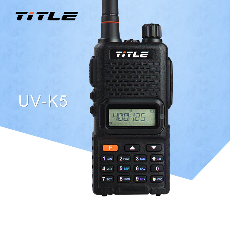 (1 pcs) Sort KSUN protable radio UV-K5 Dual Band UHF 400-520MHZ FM RADIO To-vejs radio walkie talkie