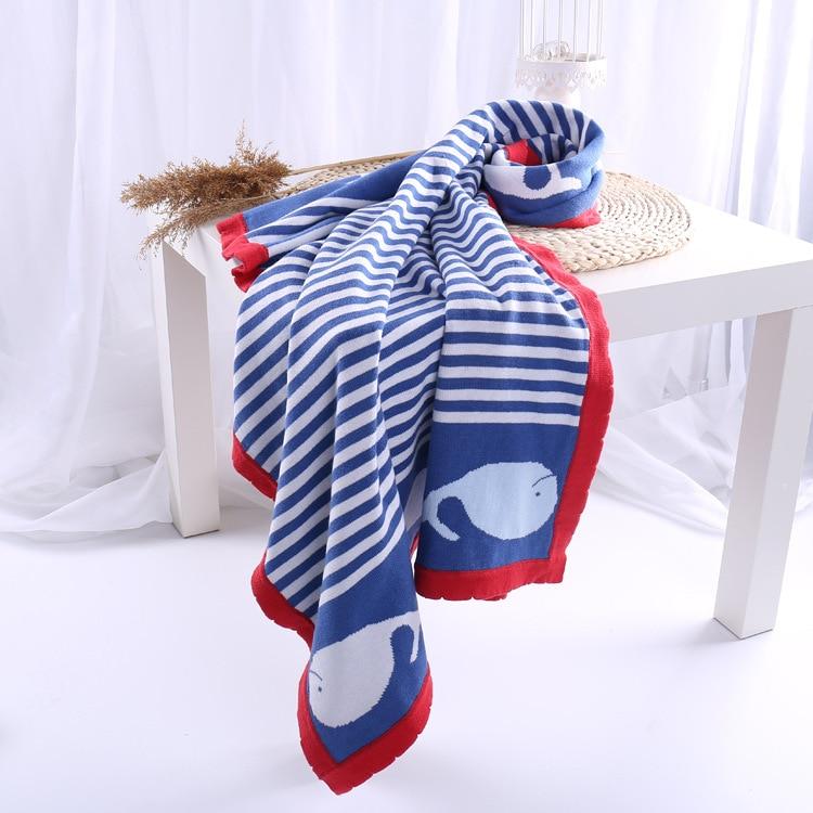 100% Katoenen Baby Deken Gebreide Pasgeboren Inbakeren Wrap Deken Super Zachte Peuter Baby Beddengoed Quilt Voor Bed Sofa Mand Plaids Stevige Constructie