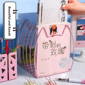 Image 3 - Sharkbang Creative Kawaii Cat metalowa do książek magazyn Bookends książki stojak uchwyt półka organizator biurkowy półka