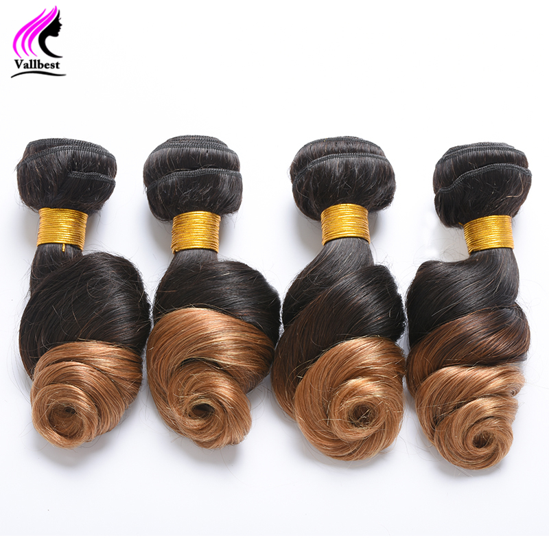 1B/27 Brazilian Virgin Hair Loose Deep Wave Brazilian Loose Wave 4 Bundles Ombre Brazilian Hair Ombre Human Hair Weave Extension