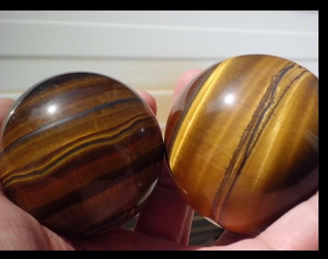 SCY 6680238+++ 2pc 50mm Natural Golden Tiger s Eye Crystal Sphere Ball A887