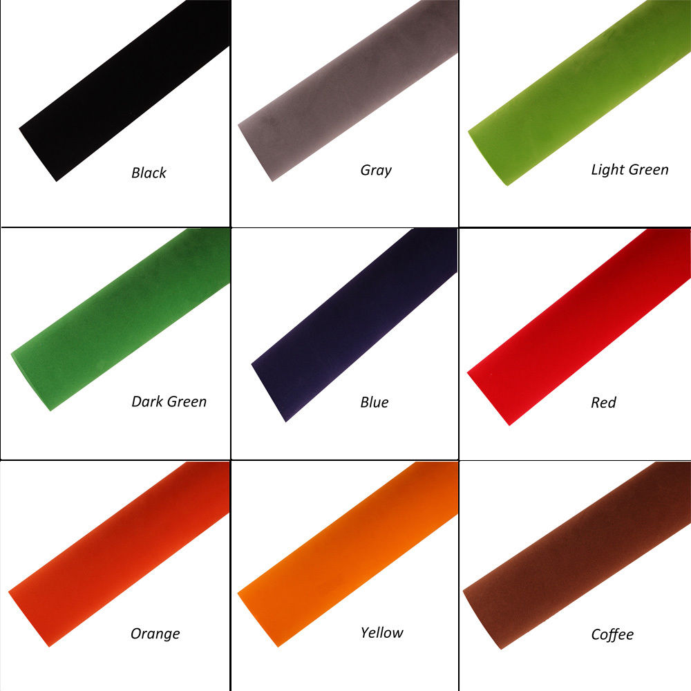 1.35x0.3m Suede Cloth Fabric Vehicle Wrapping Velour Vinyl Wrap Film Sticker for 9 Colors