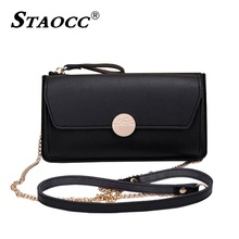 цена Women Chains Wallet Leather Brand Cell Phone Pocket Clutch Bag Card Holder Female Shoulder Crossbody Bag Phone Purse Carteira
