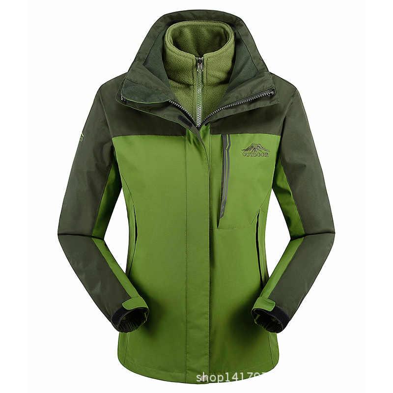 トップ女性男性ジャケット冬熱屋外コート女性フード付き防水ウインドブレーカー女性観光ベルベットジャケットjaqueta