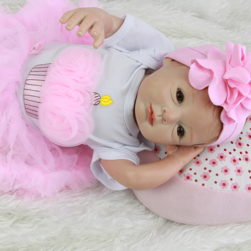 Lifelike Princess Girl Babies 22 Inch Fashion Reborn Silicone Baby Dolls Realistic Newborn Toy Kids Birthday Christmas Gift new arrival 23 inch lifelike reborn girl baby doll full silicone vinyl realistic princess dolls kids birthday christmas gift
