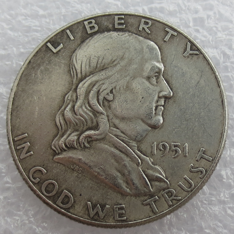 1951 P S D Franklin Silver Half Dollar 90% silver or silver plated copy coins High Quality