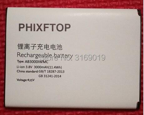 Avec Piste, PHIXFTOP d'origine AB3000IWMC batterie Pour philips S326 téléphone portable Batterie pour XENIUM CTS326 smart Mobile téléphone 3000 mAh