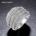 Mecresh Clear Cubic Zirconia Ring Unique Shaped Rings for Women Inlaid CZ Full Paved Gold Plated Fashion Jewellery Gift JZ025