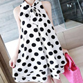 Fashion Polka Dot Print Sleeveless Chiffon Maternity Dresses for Pregnant Women Summer Maternity Clothes for Pregnancy Dress New
