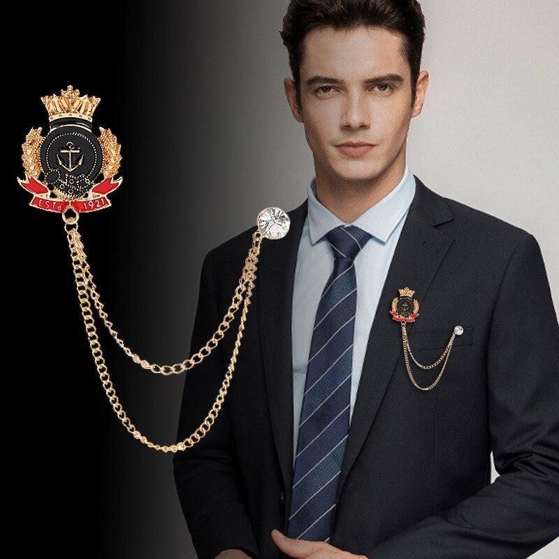 Real vintage Crown style brooch