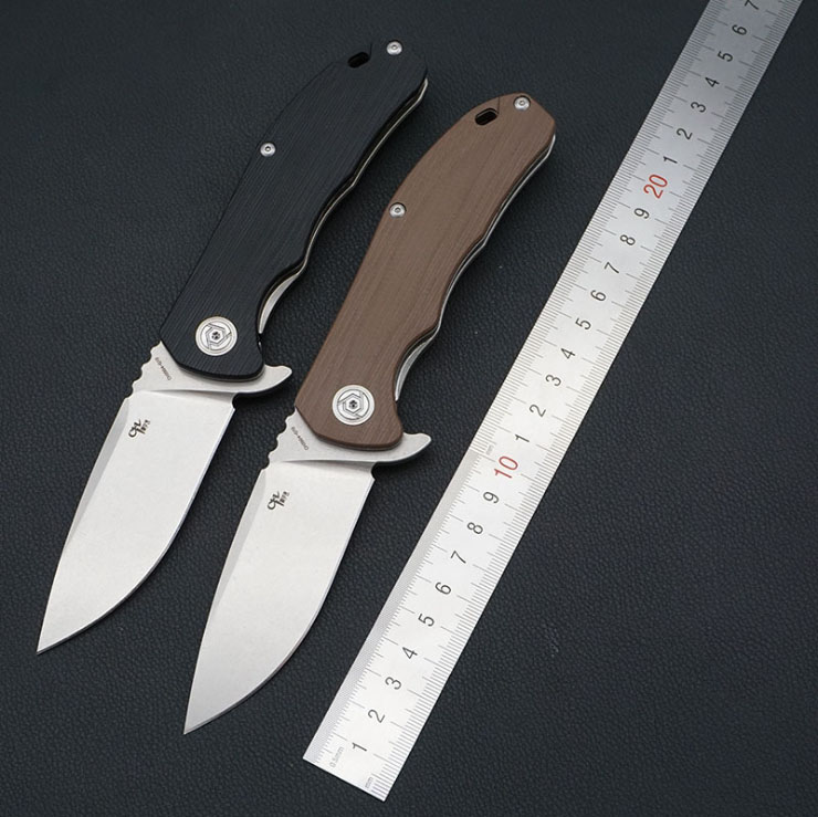 цены Vellance CH3504 Folding Blade Knives Ball Bearing D2 Blade G10 Handle Tactical Survival Knife Tools Outdoor Camping Pocket Knife