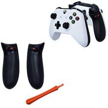 Dual Trigger Lock Instelling Custom Rubber Grip Side Rails Achter Handvat Grips Terug Panelen Frontjes Voor Xbox Een Xbox Een S X