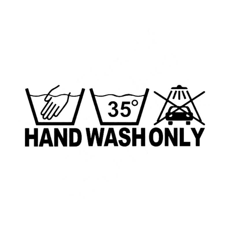 The hand wash symbol is often found on the care labels of delicate materials such as wool and silk. For these items, you should hand wash them with either a detergent specially designed for delicate fabrics or a non-bio detergent, which doesn't contain enzymes, bleach, or brightening agents.