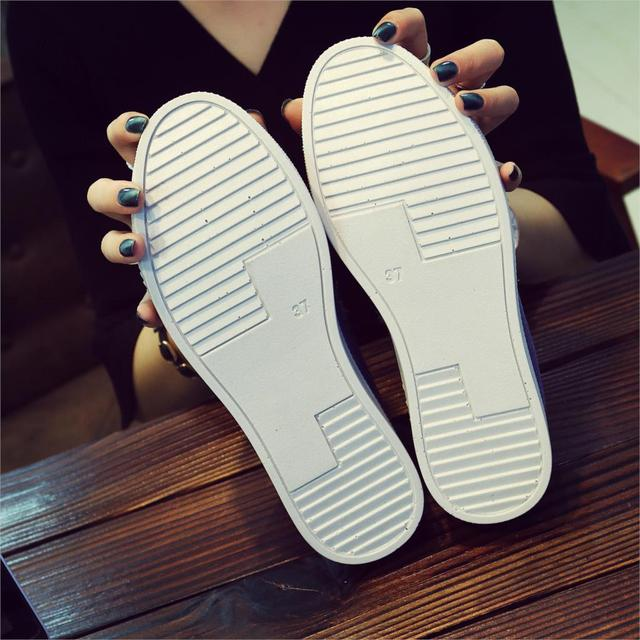 Women Denim Shoes flats Fashion Casual Jeans Shoes Girl Classic Soft Flats Soles Students Spring Canvas Shoes Lady New Arrival