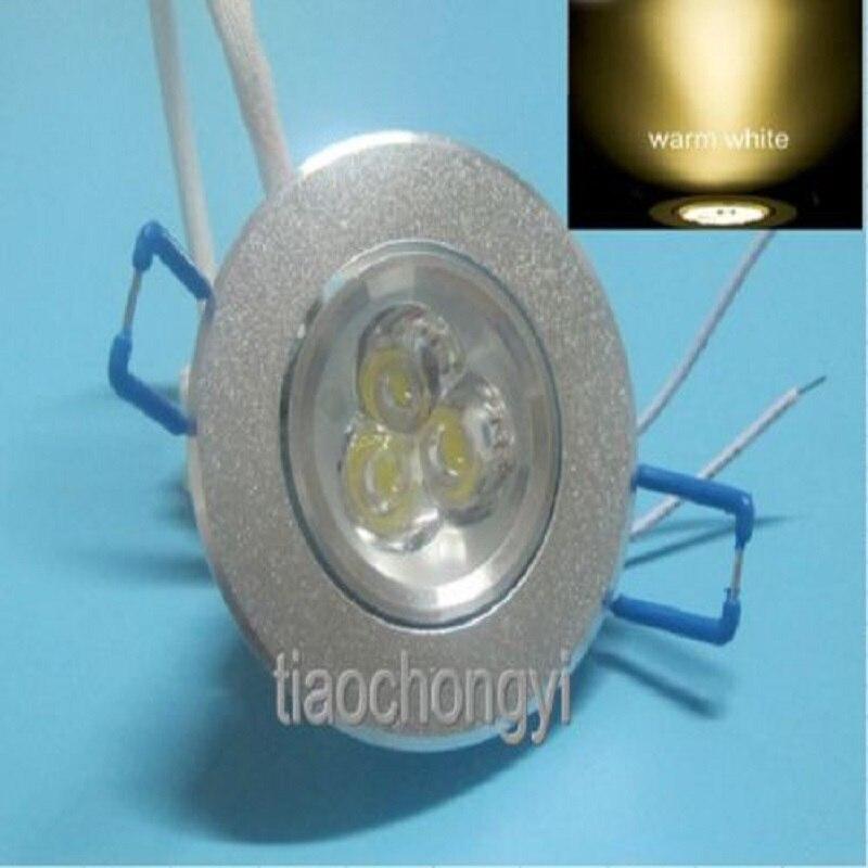 3 W LED encastré plafond vers le bas ampoule lampe Downlight blanc chaud blanc froid 10 pièces