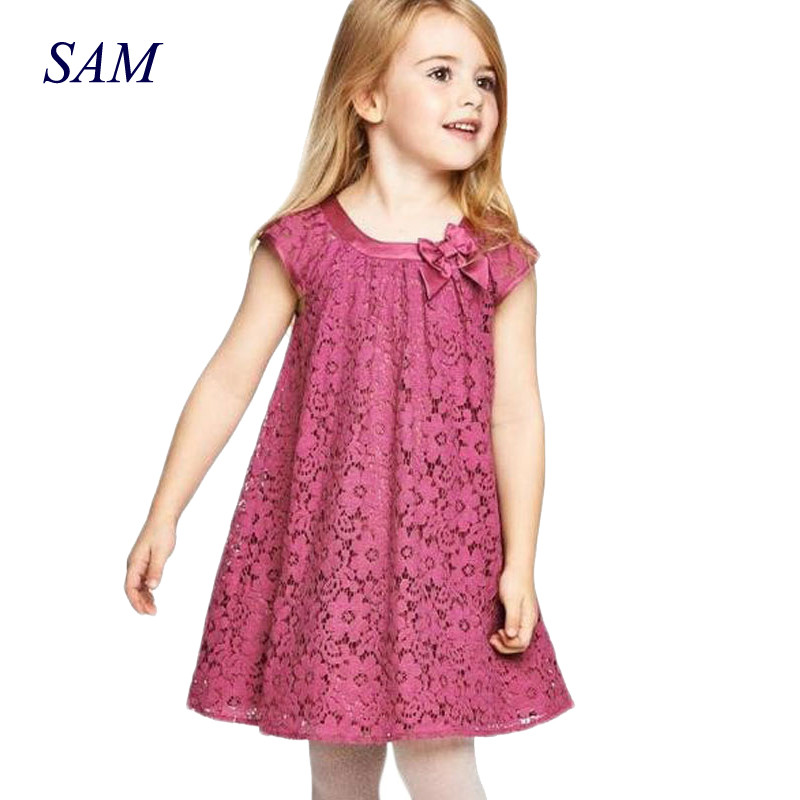 2018 Summer Cute Baby Girls Lace Dress Children's Sleeveless Vestidos Toddler Princess Clothing Kids A-line Dress Clothes цена