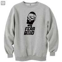 High Q James Harden Fear The Beard Sweatshirts Top Thicken Pullovers Warm Clothes Houston MVP Arizona