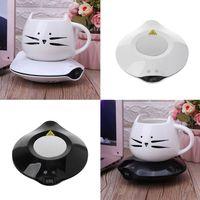 Cooling Heating Coaster Dual Use Beverage Coasters Pad Mini Fridge Winter Electric Mug Heater Coffee Tea Warmer Home Office Trav