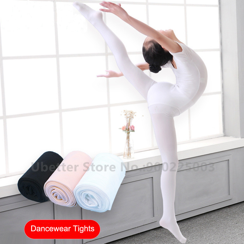 Professional Ballet Tights for Kids Children Girls Women Velvet Stretch Footed Gymnastics Pantyhose Stockings D001