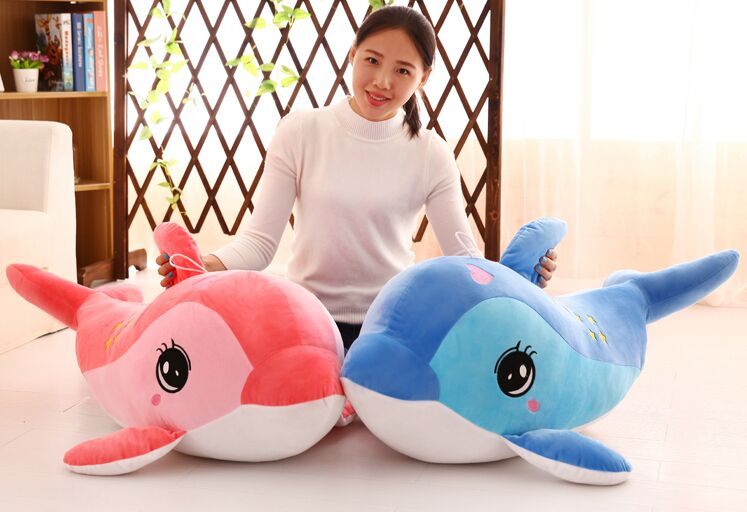 stuffed plush toy large 100cm cartoon dolphin , stars design dolphin soft doll hugging pillow Christmas gift s2487