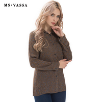 MS VASSA Women Shirts 2017 Summer Spring Ladies Blouses Long Sleeve Plus Size XS 6XL Vintage