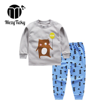 Купить с кэшбэком Boys Girls Autumn Winter Tiny Cottons Set Baby Clothes Teenage Children Boutique Pajamas Outfits for Kids Toddler Tracksuit