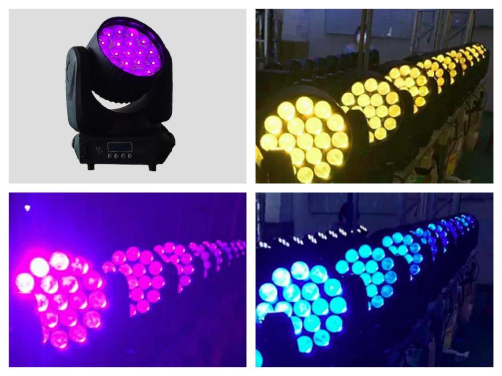 2pcs/lot, Zoom LED Moving Head Bee Eyes Cree/Osram 19x12W RGBW 4in1 LED Quad Beam Lights b eye dmx