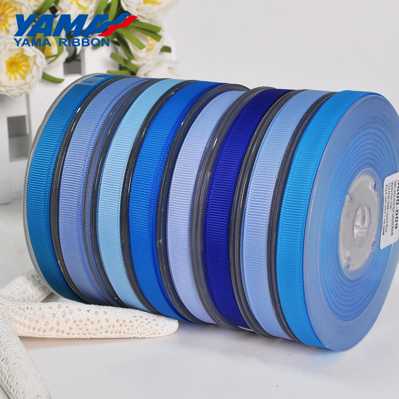 YAMA Grosgrain Ribbon 100 Yards/lot 6 9 13 19 22 Mm Light Blue 1/4 3/8 1/2 5/8 3/4 7/8 Inch  For Gift Craft Wedding Decoration