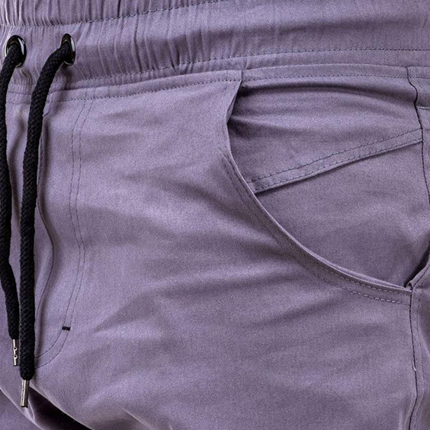 HTB1tcBXt4uTBuNkHFNRq6A9qpXaj Men's Pants 2018 Fashion Men's Pure Color Bandage Casual Loose Sweatpants Drawstring Pant       july22