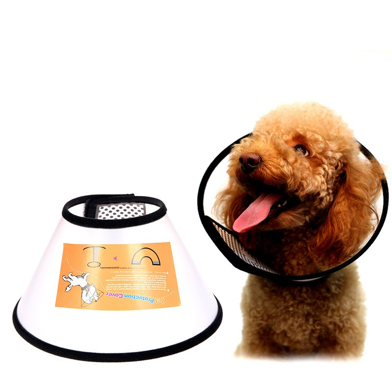 Transparent Dog Muzzle For Dogs Cone Protection Chien Dog Cats Medical Collar Protection Cover Wound Healing Cone Prevent Bite