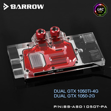 Barrow BS-ASD1050T-PA LRC RGB v1 Full Cover Graphics Card Water Cooling Block for ASUS DUAL GTX1050Ti/1050
