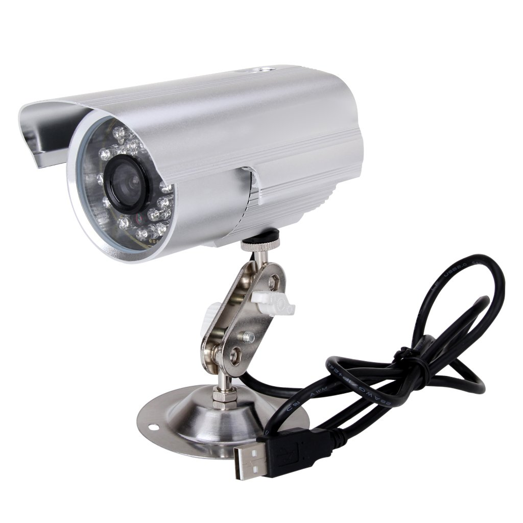 Cámara de video vigilancia CCTV al aire libre a prueba de agua Video DVR Grabación de visión nocturna en mini grabadora de tarjeta SD Cámara DVR externa