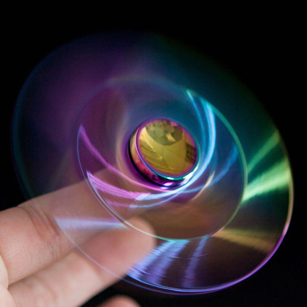 Rainbow Spinner Focus Stress Reducing ADHD Autism Fingertips Spiral Toy Gyro