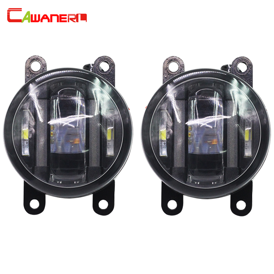 Cawanerl 2 X Car Accessories LED Fog Light DRL Daytime Running Lamp High Lumens For Citroen DS4 Xsara Picasso C4 C3 2pcs car led headlight kit led bulb d33 h11 free canbus auto led lamps white headlamp with yellow light fog light for citroen c4