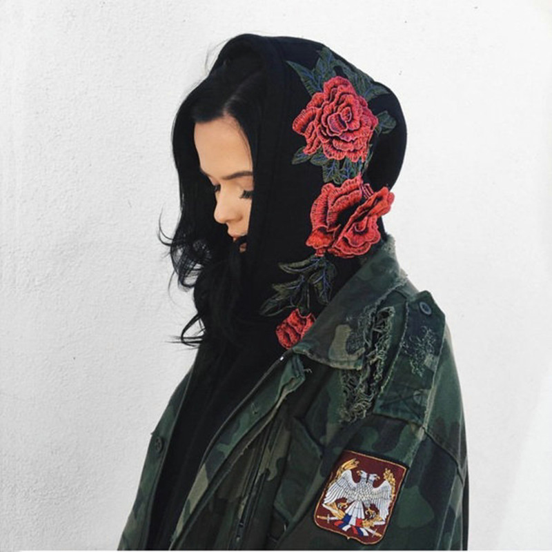 HTB1tcCARVXXXXXcXXXXq6xXFXXXl - FREE SHIPPING Floral Black Women Sweatshirt Hoodie JKP221