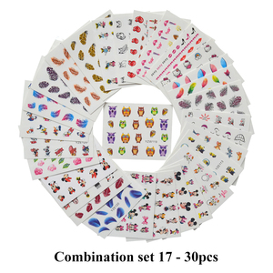 Image 4 - Wholesale Mixed 2020 Newest Designs Watercolor Floral Flower Sticker Nail Decal Set for Gel Manicure Decor Water Slider Foil Set