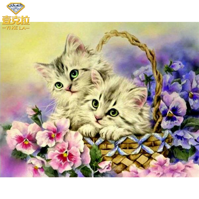 Diy Diamond Painting Basket Flower Cats Full Square Drill Rhinestone Embroidery Decoration Diamond Mosaic Cross Stitch Crafts