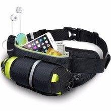 Men Women Waist Running Bag Sports Water Bottle Holder Running Belt Waist Bag Waterproof Fanny Pack Gym Fitness Run Bag