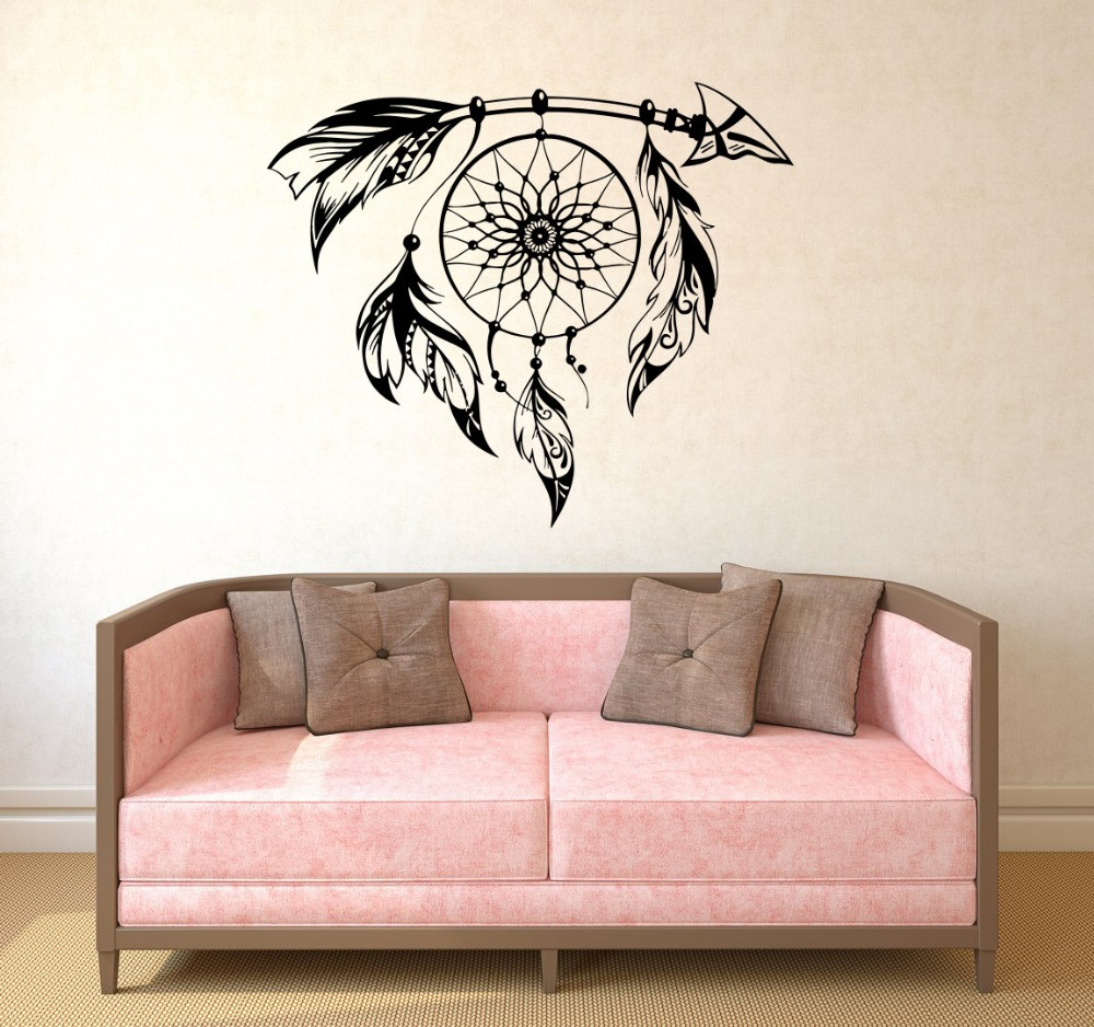 Hot Selling Special Wall Stickers Dream Catcher Art Designed Cool Wall  Decals Mural Home Amulet Sign American Style Decor W 526 In Wall Stickers  From Home ...