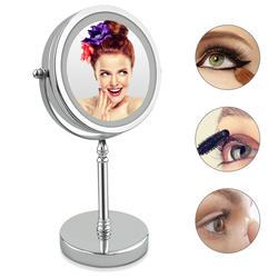 10 раз увеличение зеркало для макияжа вращающийся круглое зеркало Двусторонняя 7 дюймов светодио дный зеркало круглое макияж кадр