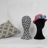 New Style Fashionable Fabric Head Model Female Mannequin Head For Display