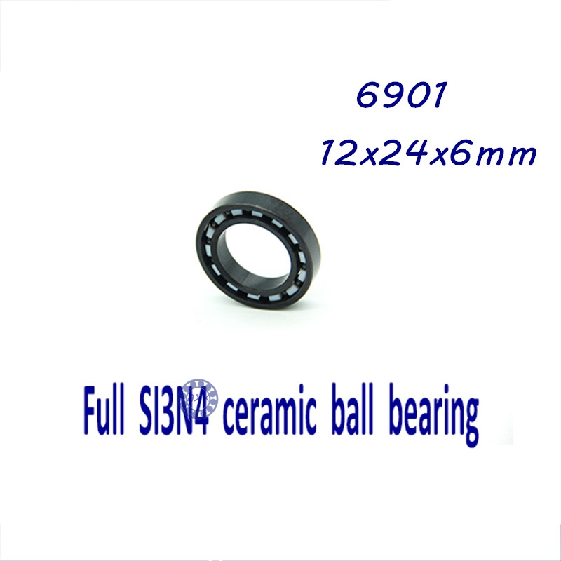 ФОТО Free shipping 6901 full SI3N4 ceramic deep groove ball bearing 12x24x6mm full complement 61901 P5 ABEC5