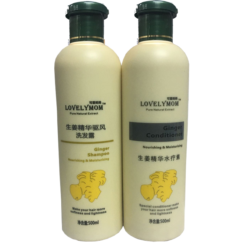 Ginger Hair Shampoo and Hair Conditioner Set for Hair Care Best Smoothing Damage Repaire 500ml 500ml